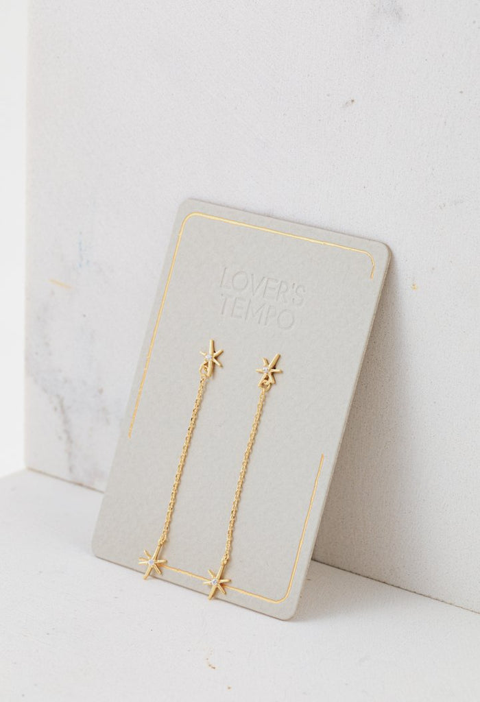 Lover's Tempo Glimmer Drop | Gold | Earrings | $34