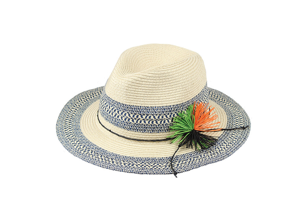 Hat Stack Paper Braid Fedora | Blue | Hats | $30