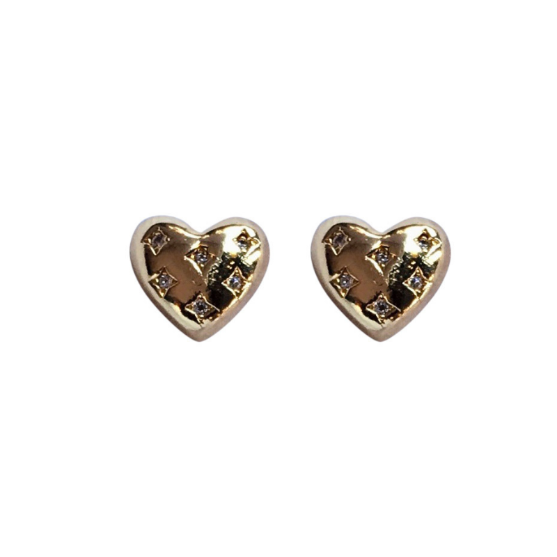 Love, Poppy Love Ya Studs | Gold | Earrings | $34