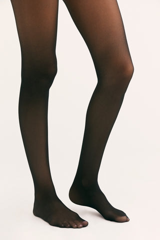 Free People Time To Shine Sheer | Black | Tights | $20