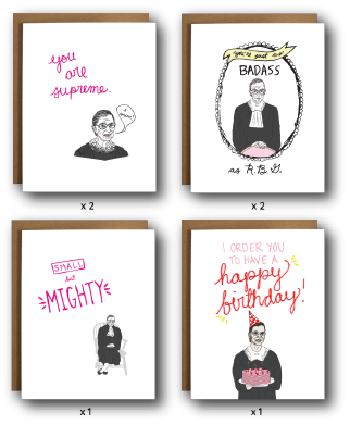 The Card Bureau Ruth Bader Ginsburg Birthday Box Set | Cards/Stationary | $23