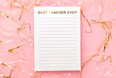 Taylor Elliott Magnet Notepad | Best Teacher Ever | Cards/Stationary | $11