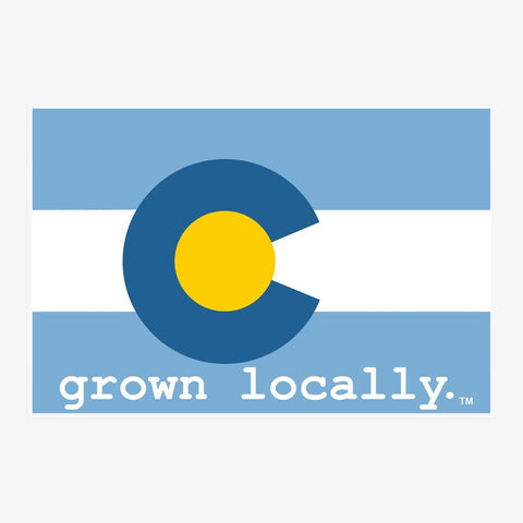 Aksels Vinyl Sticker Large | Grown Locally Baby Blue | Home & Gifts | $5