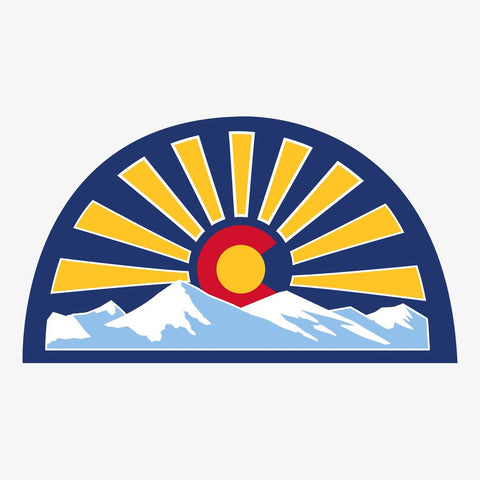 Aksels Vinyl Sticker Large | Colorado Sunset Royal | Home & Gifts | $5