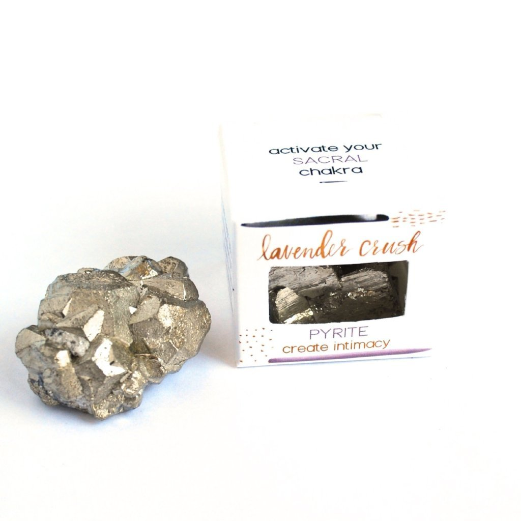 Lavender Crush Sacral Chakra Stone | Pyrite | Home & Gifts | $22