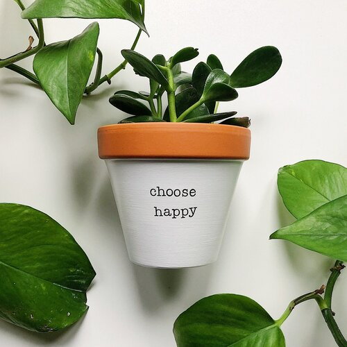 Bolt And Rally Planter | Choose Happy | Home & Gifts | $30