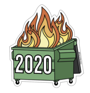 The Card Bureau Sticker | 2020 Dumpster Fire | Home & Gifts | $4