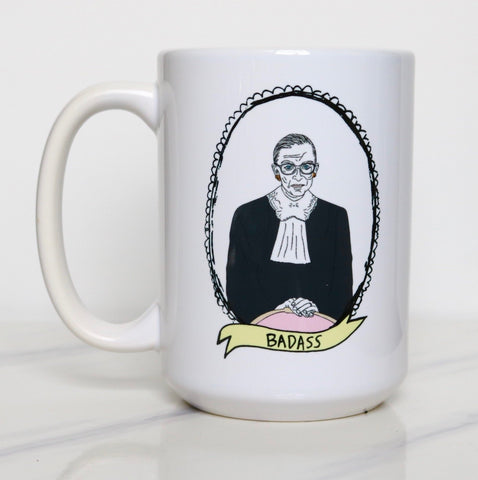 The Card Bureau Ruth Bader Ginsburg Badass Mug | Home & Gifts | $22