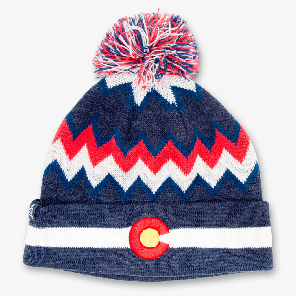 Aksels Knitted Beanie | Colorado Zig Zag | Hats | $26