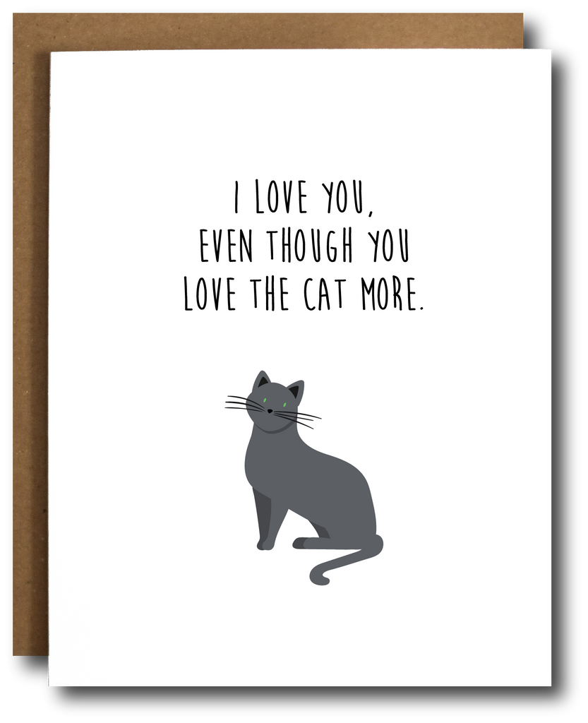 The Card Bureau Single | Cat Love | Cards/Stationary | $4.99