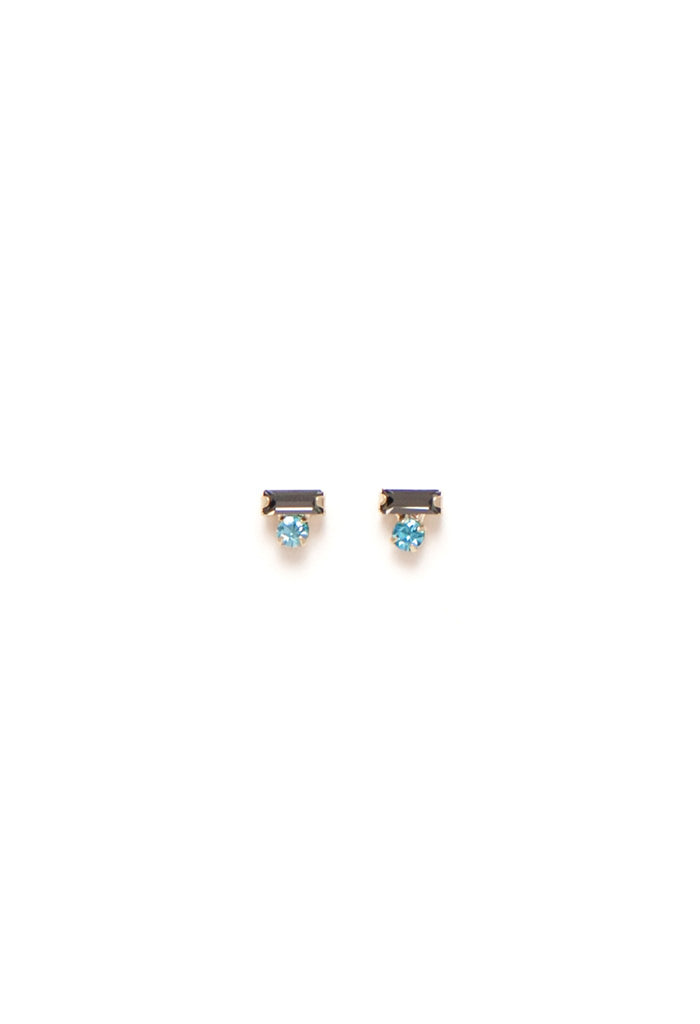 Lover's Tempo Bon Bon Stud | Grey/Blue | Earrings | $35