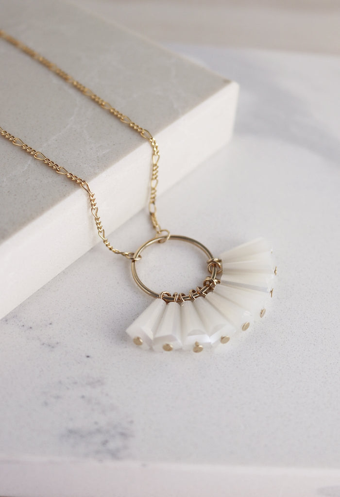Lover's Tempo Confetti | White | Necklaces | $60