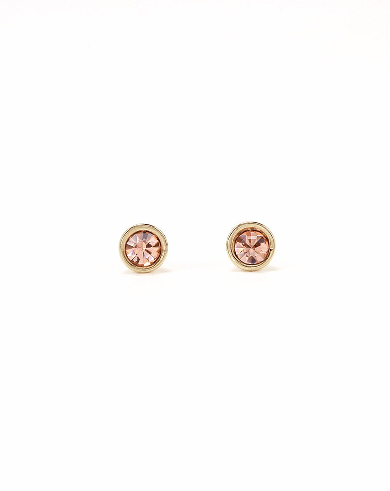 Lover's Tempo Mini Post | Light Peach | Earrings | $28