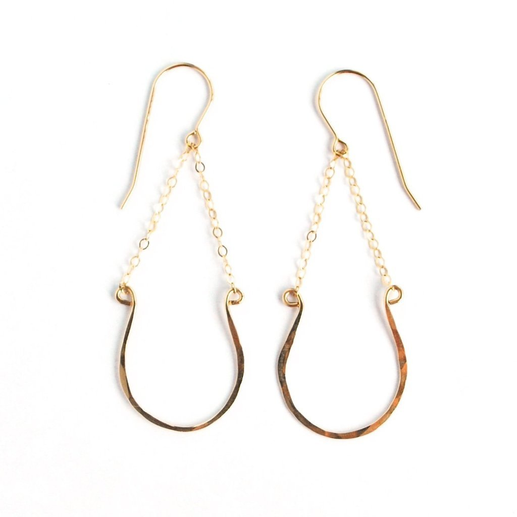 Lavender Crush Morro Horseshoe Hoops | Gold | Earrings | $57