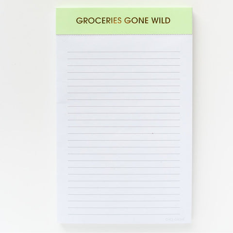 Chez Gagne' Notepad |Groceries Gone Wild | Cards/Stationary | $12