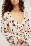 Free People Poppy Printed Bodysuit | Ivory Combo  | Blouses | $88