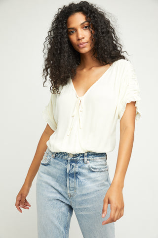 Free People Cleo Bodysuit | Ivory | Blouses | $68