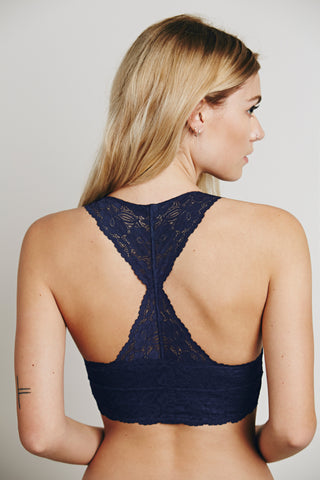 Free People Galloon Lace Racerback | Navy | Bralettes | $22
