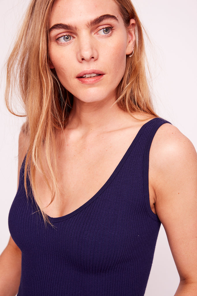 Free People Solid Rib Brami | Navy | Tanks | $28