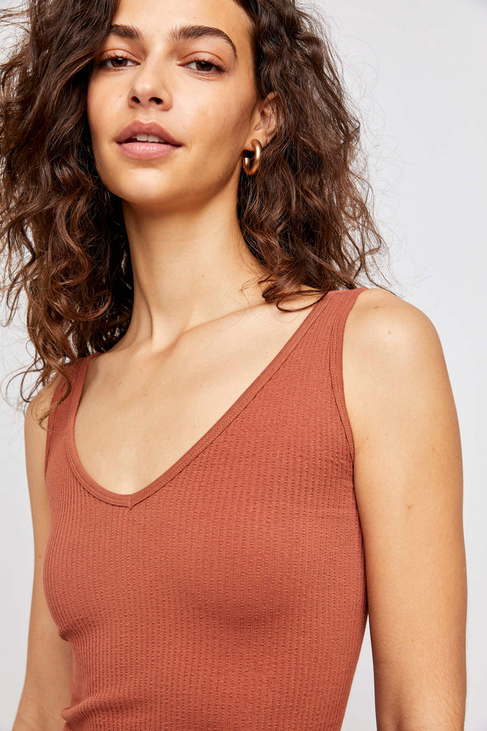 Free People Solid Rib Brami | Terracotta | Tanks | $28