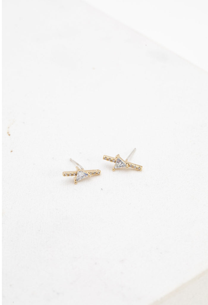 Lover's Tempo On Point Climber | Gold | Earrings | $42