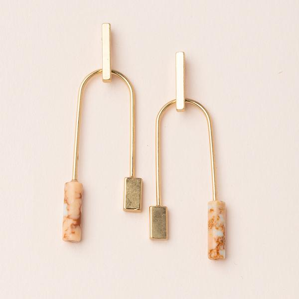 Scout Stone Balance | Pink/Gold | Earrings | $20