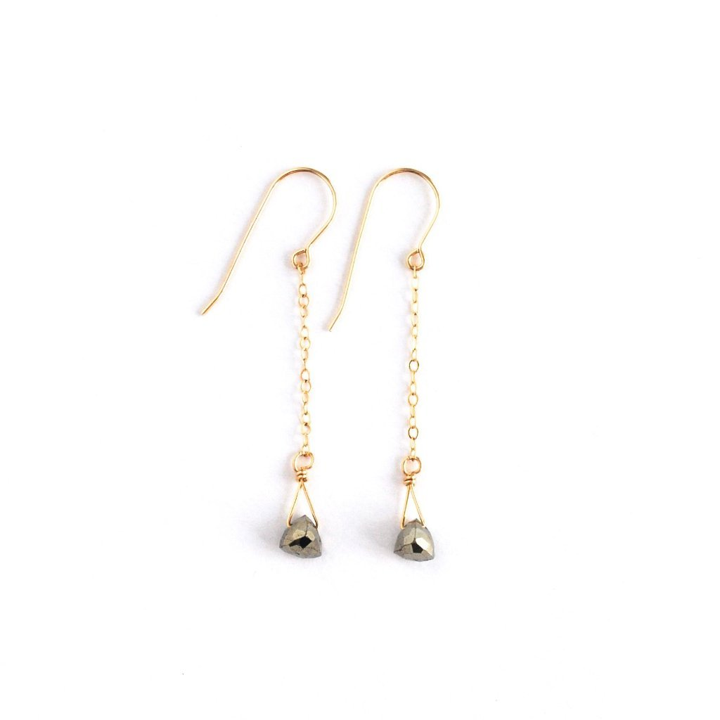 Lavender Crush Pompeii Dangle | Pyrite | Earrings | $57
