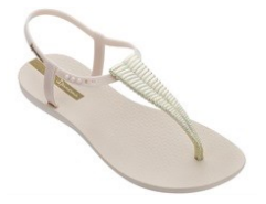 Melissa Ipanema Ribba | Beige/Gold | Sandals | $38
