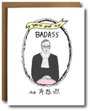 The Card Bureau Ruth Bader Ginsburg Badass Card | Cards/Stationary | $6