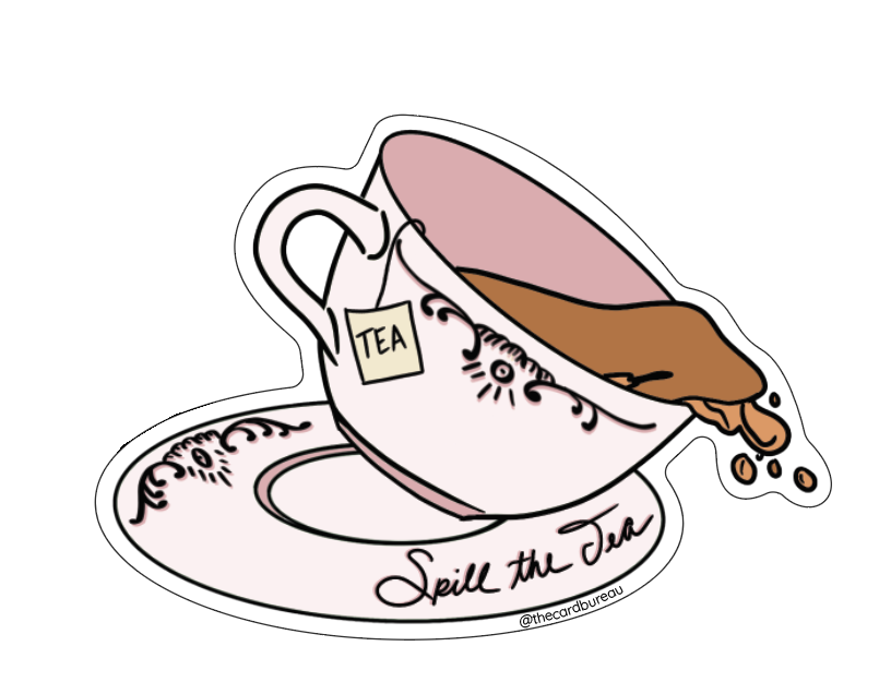The Card Bureau Sticker | Spill The Tea | Home & Gifts | $4