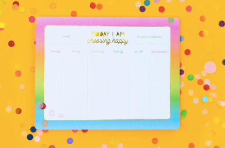 Taylor Elliott Weekly List Pad Planner | Choose Happy | Cards/Stationary | $18