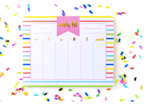 Taylor Elliott Weekly List Pad Planner | Striped | Cards/Stationary | $18