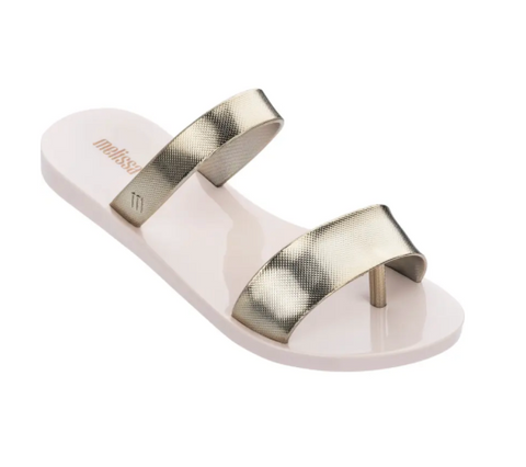 Melissa Love Lip | Beige/Gold | Sandals | $85