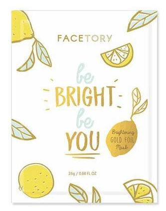 FaceTory Mask Single | Be Bright Be You Foil | Beauty & Wellness | $3