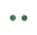 Lover's Tempo Astrid Stud | Emerald | Earrings | $28