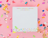 Taylor Elliott Sticky Note Cube| Confetti | Home & Gifts | $12