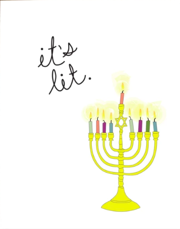The Card Bureau It's Lit Hanukkah Box Set | Multi | Cards/Stationary | $23
