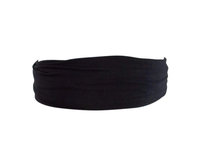 Kitsch Silky Stretch Headband | Black | Hair Accessories | $16
