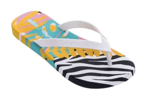 Melissa Ipanema Flip | White/Black/Blue | Sandals | $45