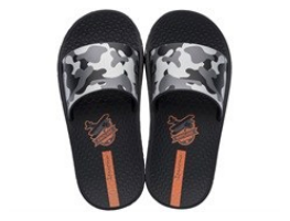 MelissaKids Slippy Camo Slide | Black/Grey | Sandals | $32