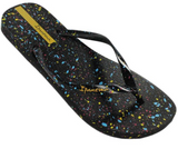 Melissa Ipanema Splash | Black/Yellow | Sandals | $32