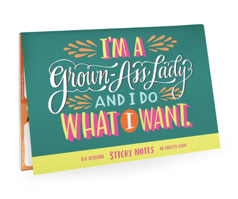 Emily McDowell & Friends Sticky Notes | Grown-Ass Lady | Cards/Stationary | $14