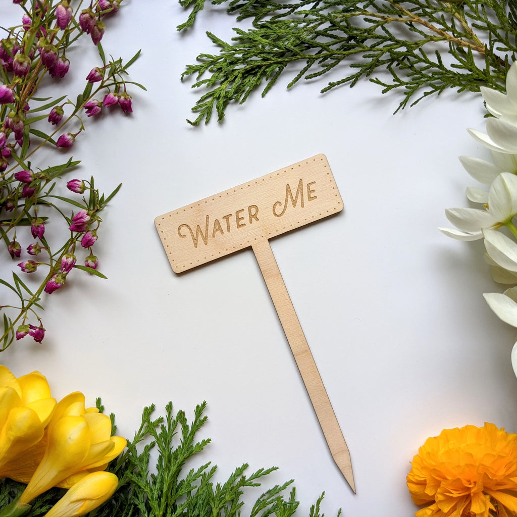 North To South Designs Garden Marker | Water Me | Home & Gifts | $6