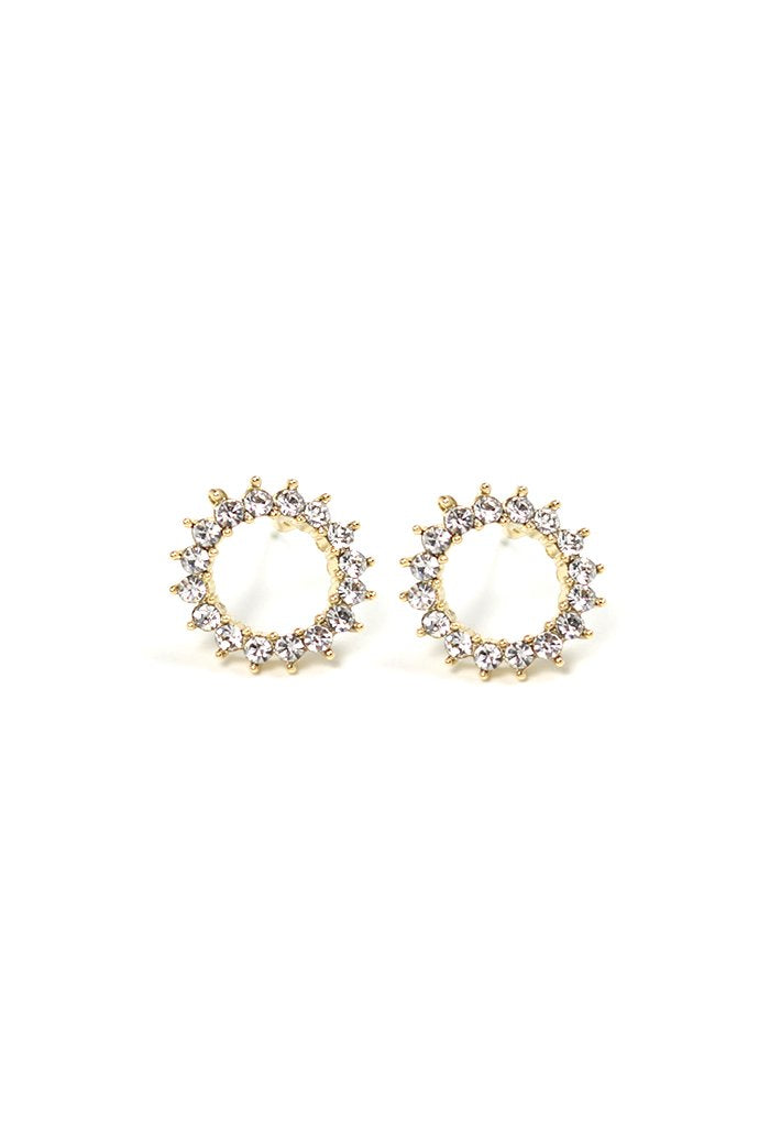 Lover's Tempo Halo Stud | Gold | Earrings | $44