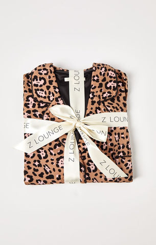 Z Lounge Dream State PJ's | Leopard Toast | Loungewear | $68