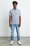 Rails Men's Carson Button Down | Slate Aqua Palms | Shirts | $118
