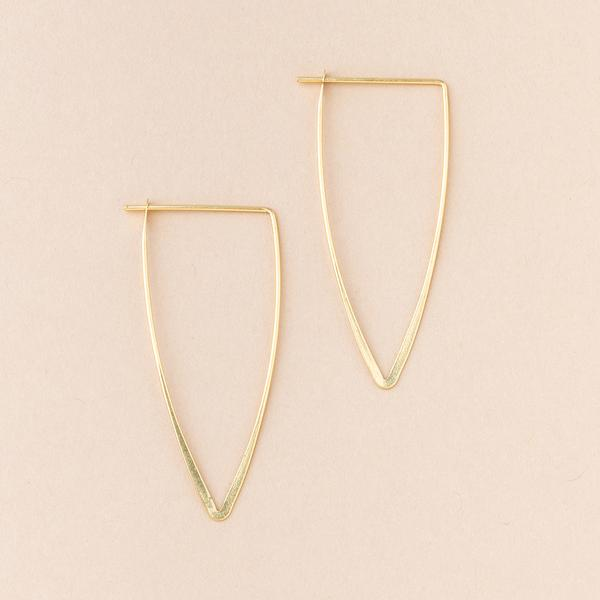 Scout Refined Galaxy Triangle | Gold Vermeil | Earrings | $24