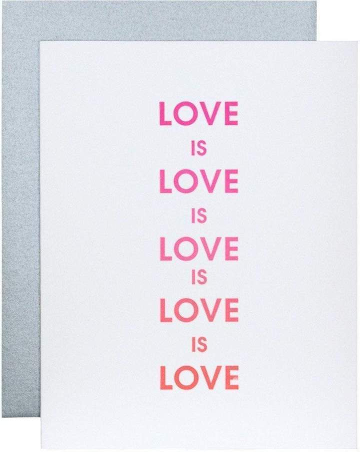 Chez Gagne' Letter Press | Love Is Love | Cards/Stationary | $6