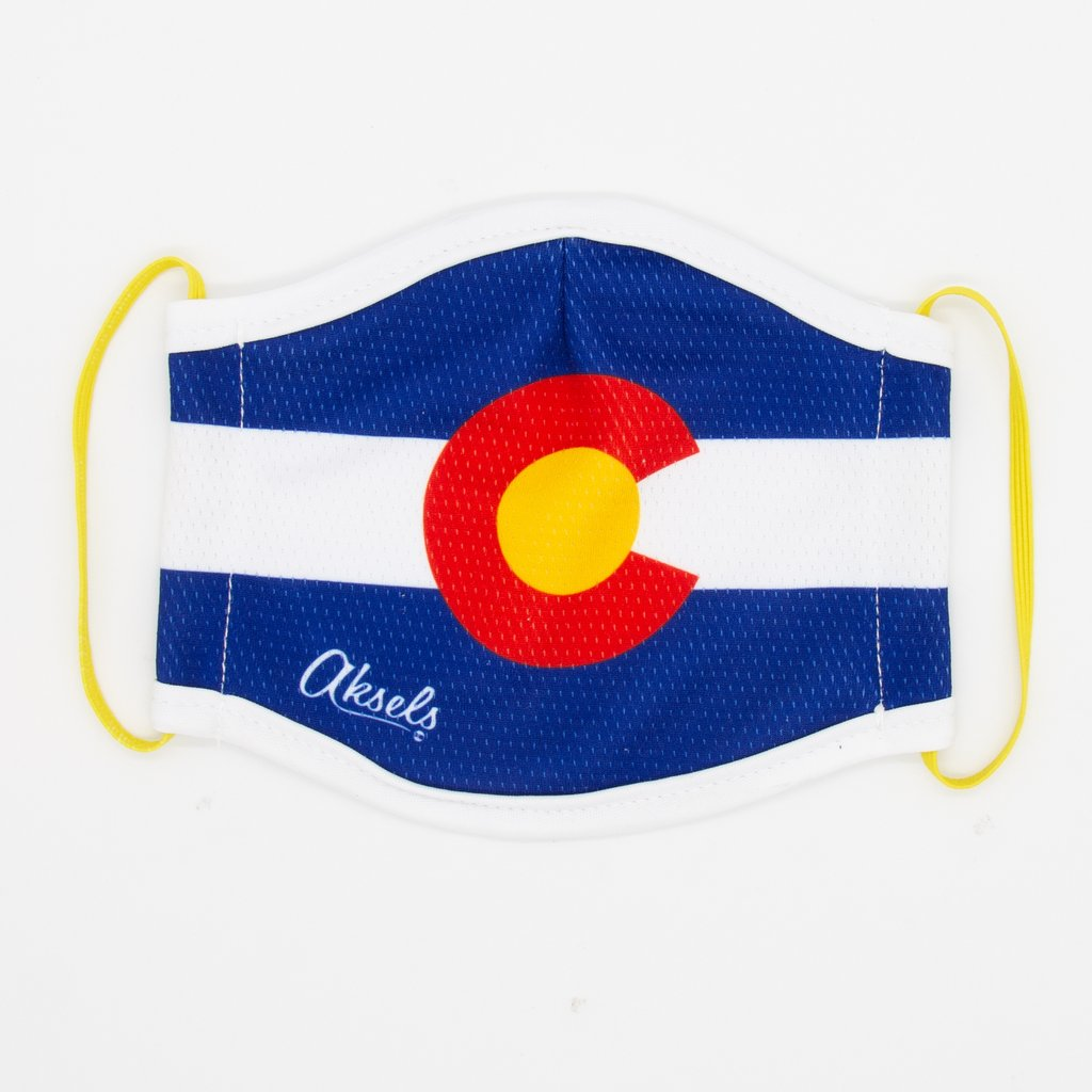 Aksels Adult Face Mask Single | Colorado Flag | Beauty & Wellness | $14
