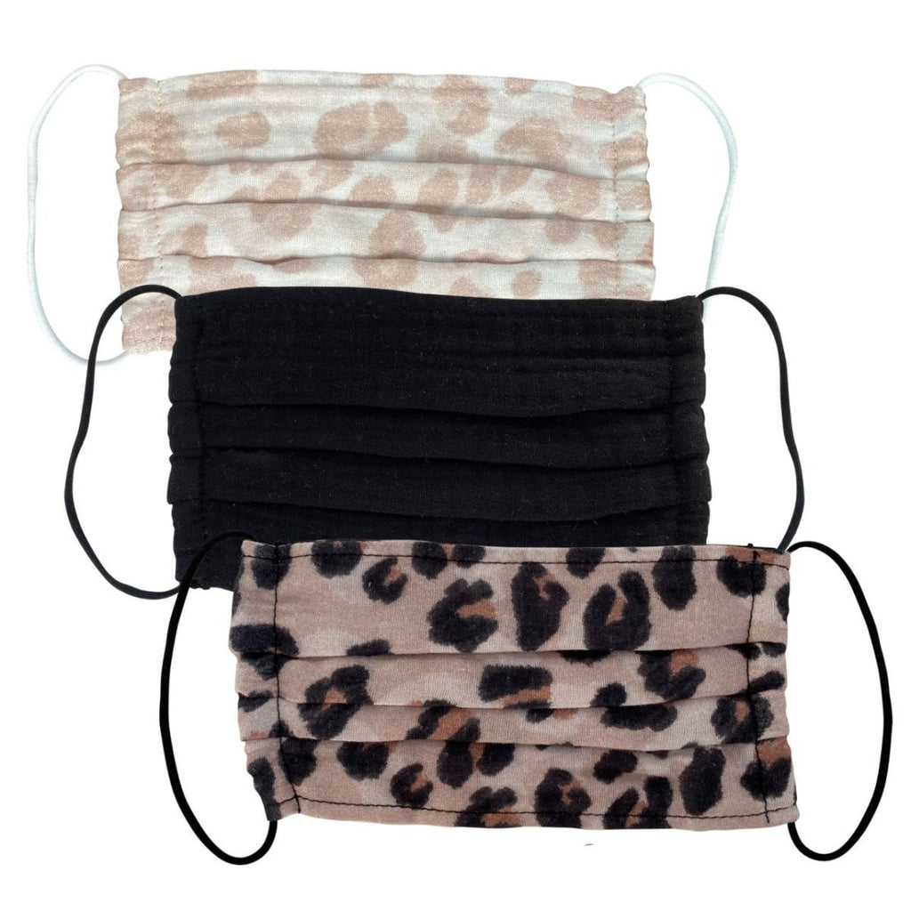 Kitsch Adult Face Mask 3-Pack | Leopard | Beauty & Wellness | $18